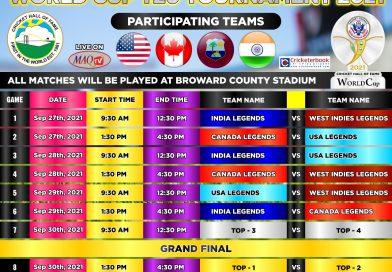 Legends World Cup for September